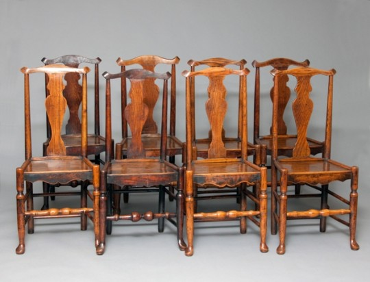 Set of eight chairs (on hold)
