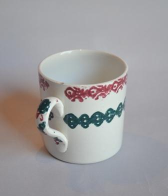 Spongeware mug. Sold