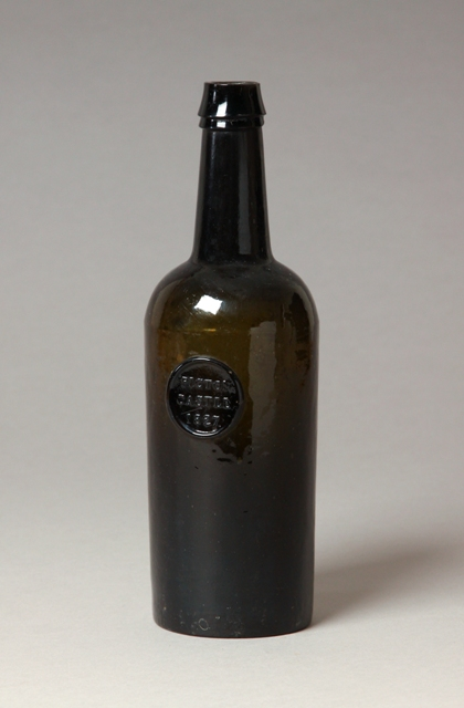 Sealed Welsh wine bottle, Picton Castle, Haverfordwest, Pembrokeshire Sold