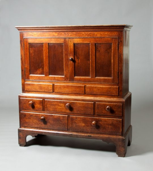Small oak linen press Sold