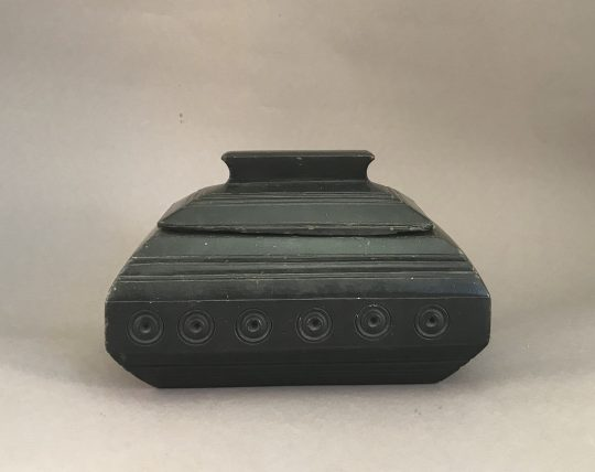 Small Welsh carved slate casket