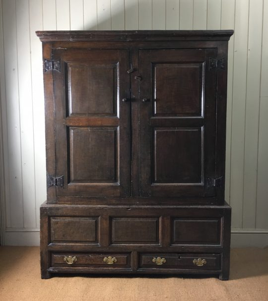 Welsh oak hanging press cupboard