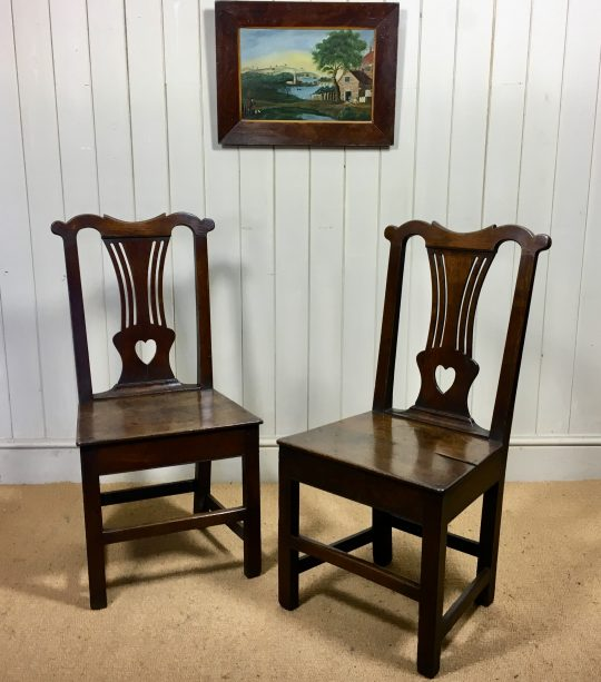 Pair of Welsh oak chairs