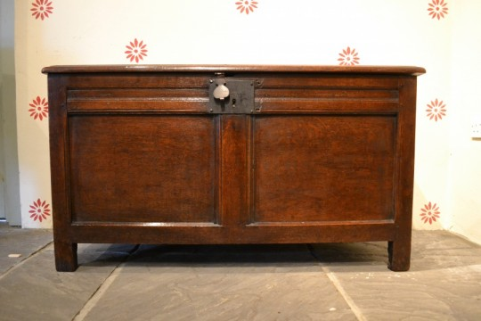 17th century panelled chest SOLD