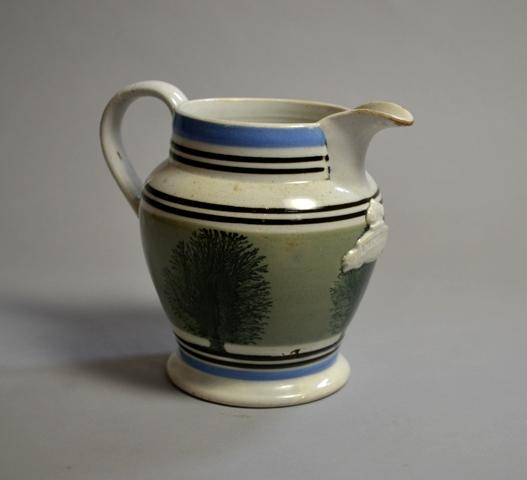 Victorian Mochaware Quart jug Sold