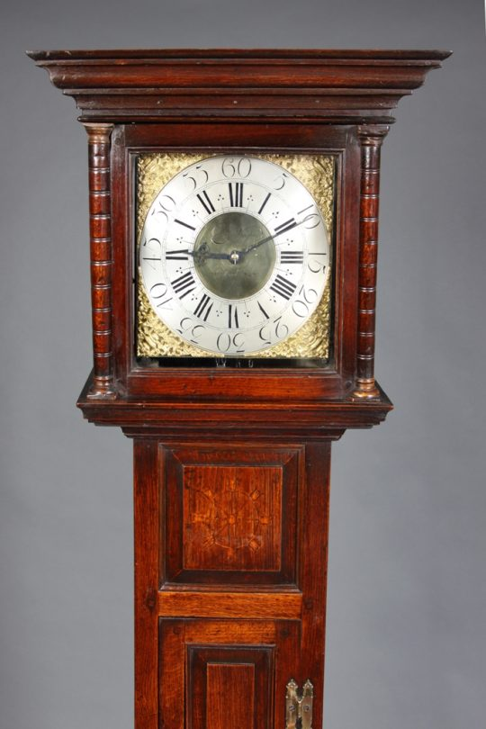Welsh longcase clock by Charles Vaughan of Pontypool