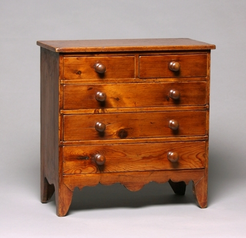 Miniature Regency pine chest Sold
