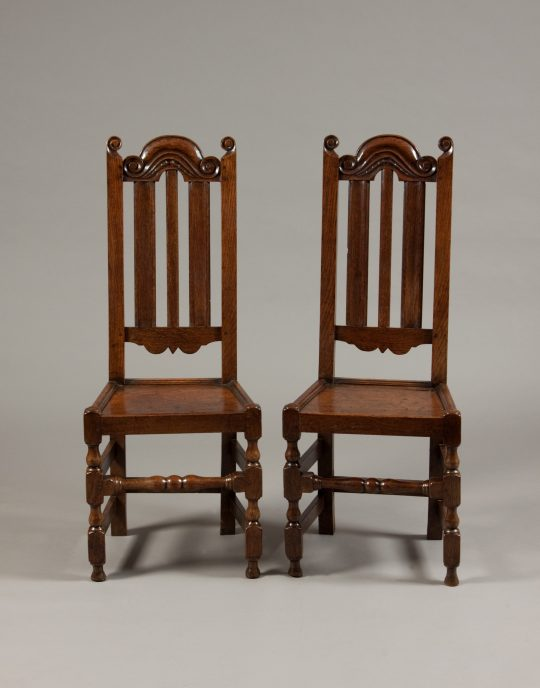 Pair of oak chairs (sold)