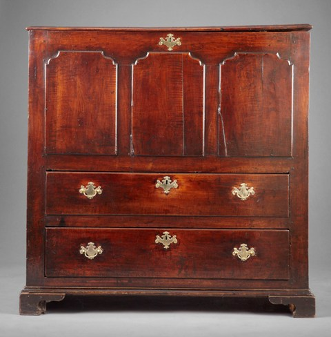 Rare Welsh fruitwood chest SOLD