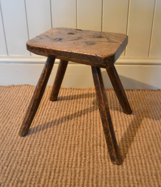 Welsh ash stool SOLD