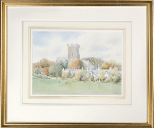 St David's Church Carmarthen by B A Lewis sold