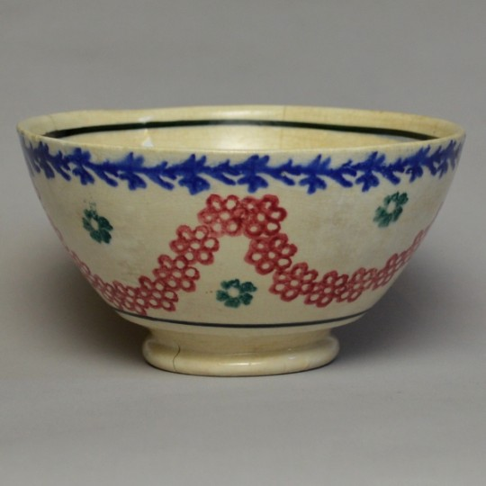 Spongeware cawl bowl Sold