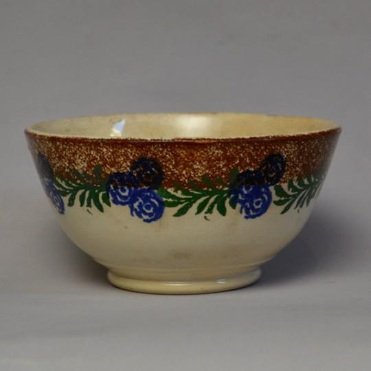 Victorian spongeware cawl bowl sold
