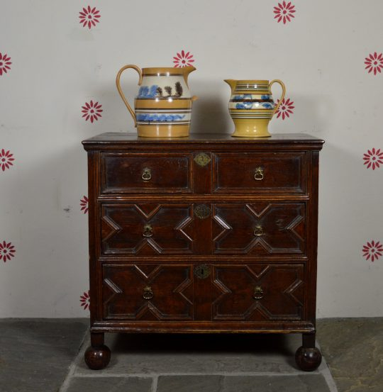 Small 17th century chest of drawers Sold