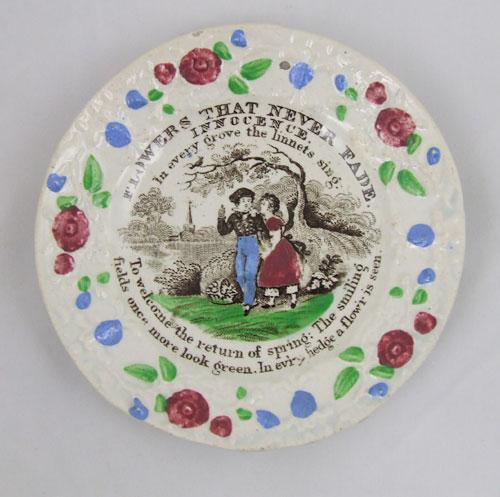 19th century child's plate