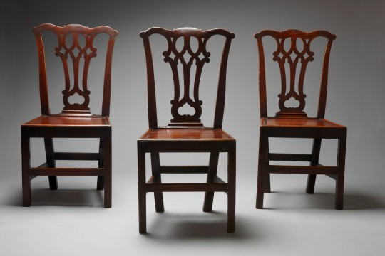 Set of three Georgian chairs