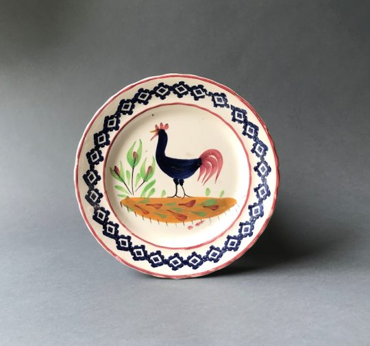 Llanelly pottery cockerel plate