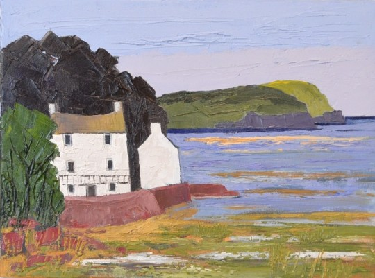 The Boathouse Laugharne by Wynne Jenkins SOLD