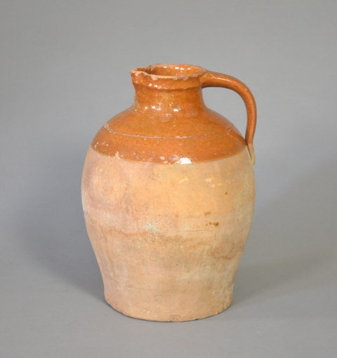 Large earthenware ewer.