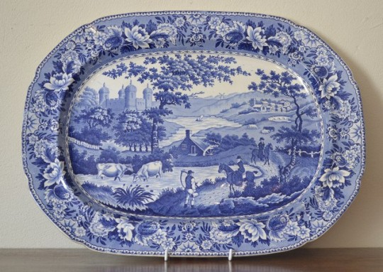"Swansea pottery ""Ladies of Llangollen"" meat plate Sold"