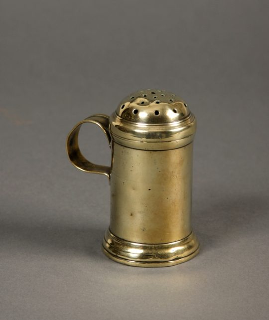 Georgian brass muffineer Sold