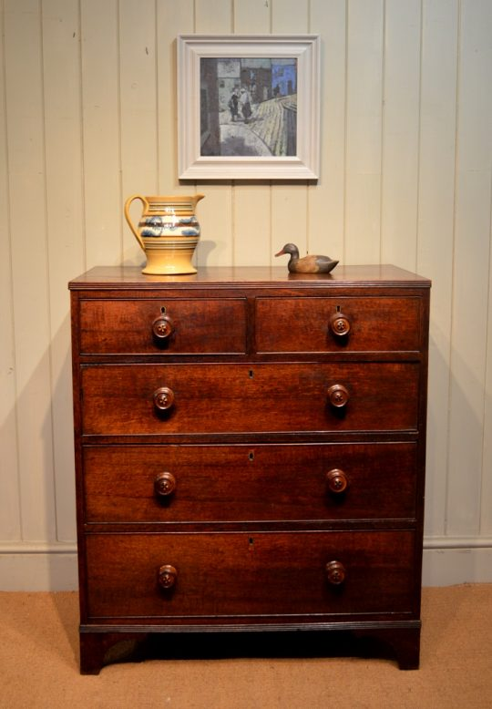 Welsh oak chest of drawers Sold