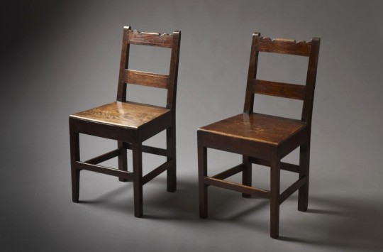 Pair of inlaid chairs SOLD