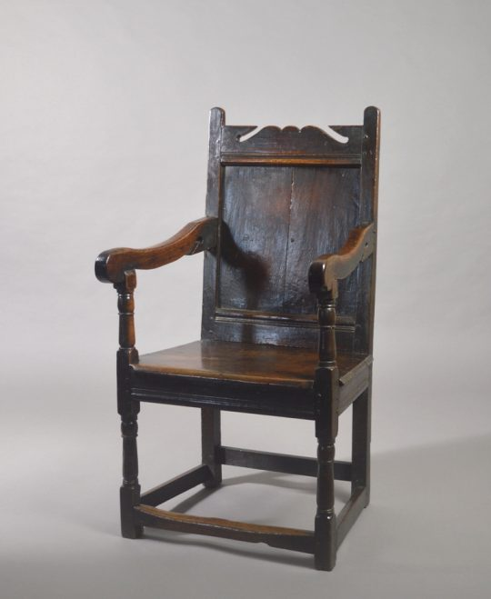 17th century oak armchair