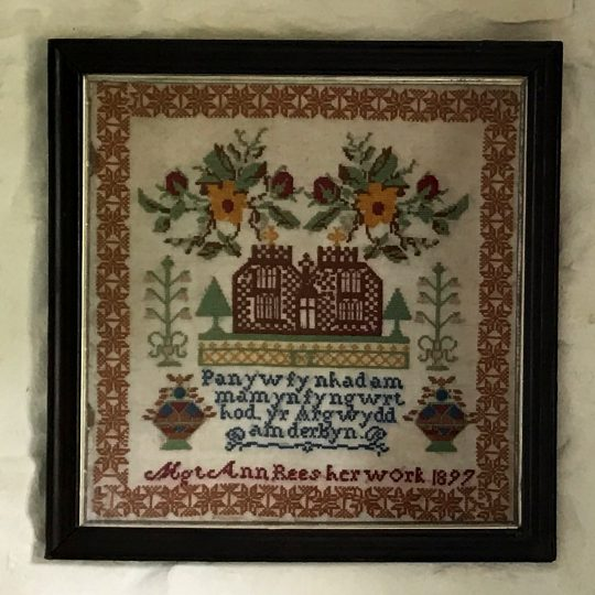 Victorian Welsh language sampler