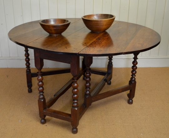 Oak gate leg table Sold