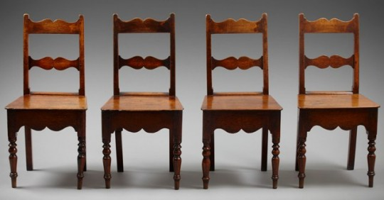 Set of four chairs Sold