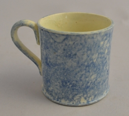 Small blue sponged mug Sold