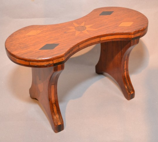Small inlaid stool SOLD