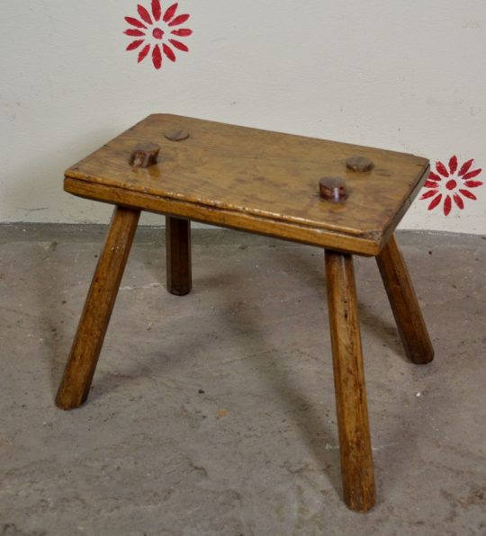 Oak and ash stool
