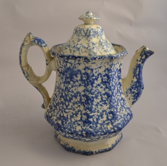 Rare Spongeware tea pot Sold