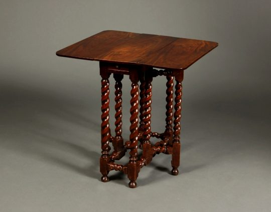 Small walnut gate-leg table