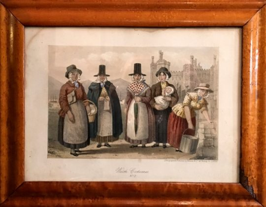 Welsh costume print Sold