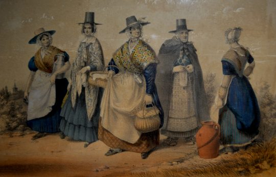 "19th century framed print ""Welsh Costume"" Sold"