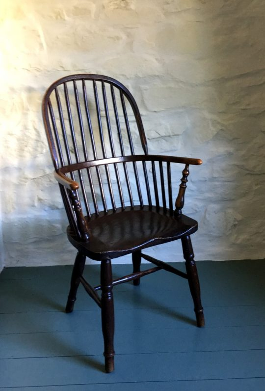 Painted hoop-back Windsor chair Sold